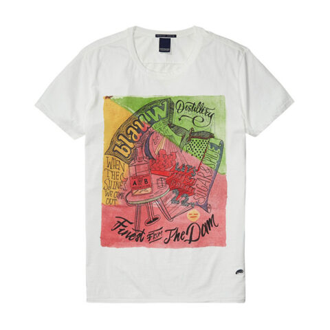 ILLUSTRATED MEN'S T-SHIRT SCOTCH AND SODA