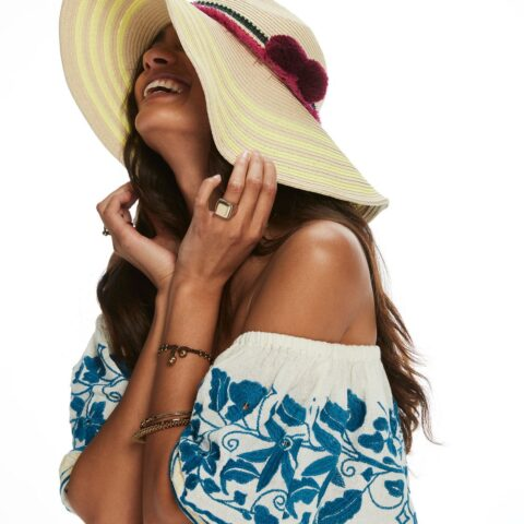 Women's Wide Brimmed Beach Hat by Maison Scotch And Soda.