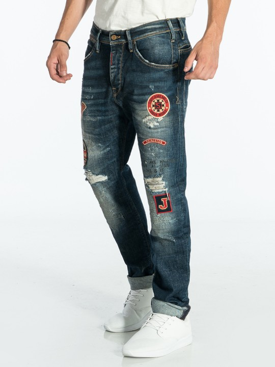 BOB MEN'S JEANS BAGGY TAPERED FIT BY STAFF.