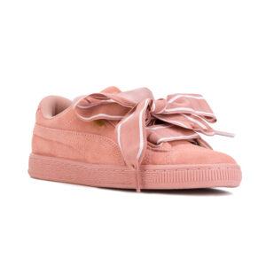 Puma Γυναικείο Basket Heart Satin ροζ.