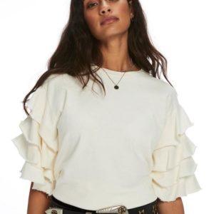 Maison by Scotch & Soda Layered Ruffle Sleeve T-Shirt