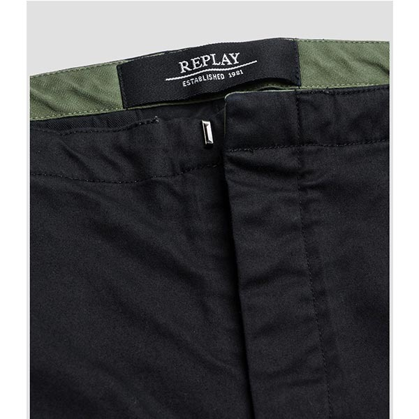 Replay Men's Cotton Satin Chino-Παντελόνι.