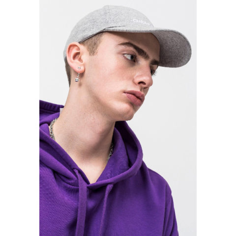 Καπέλο-Cheap Monday CM Baseball Cap Unisex Grey Melange.