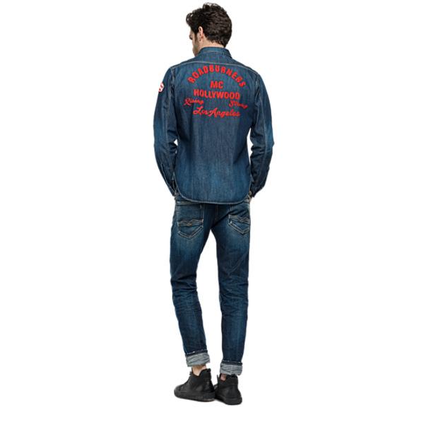 Τζιν Πουκάμισο Ανδρικό - Replay Blue Denim Shirt.