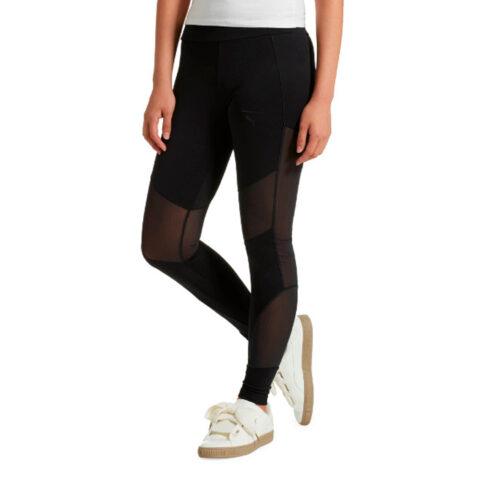 Κολάν Μαύρο Διαφάνια - Puma Velvet Rope Leggings.