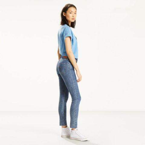 Γυναικείο Ψηλόμεσο Τζιν Παντελόνι Levi's Skinny.