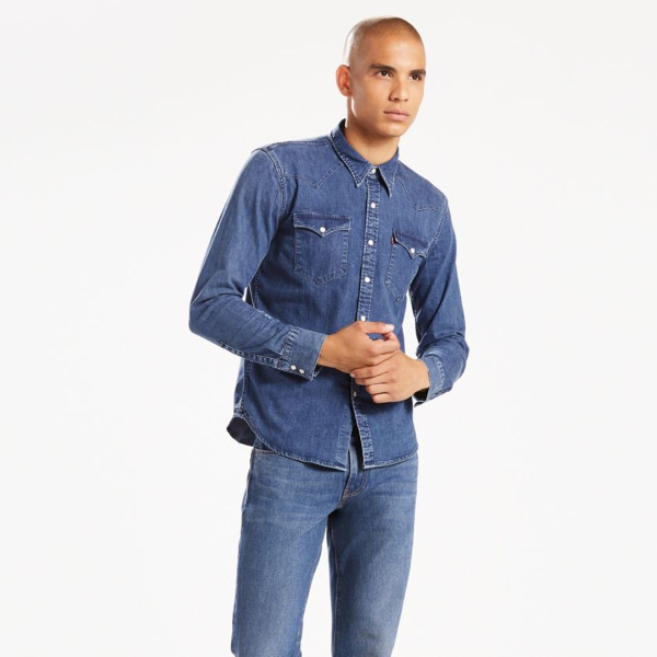 09af93b11237 Τζιν Πουκάμισο Ανδρικό - Levi s Barstow Western. - Tutto Jeans