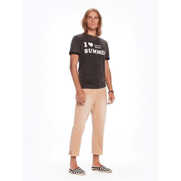 Scotch & Soda T-Shirt-Ανδρική Κοντομάνικη Μπλούζα Μαύρη