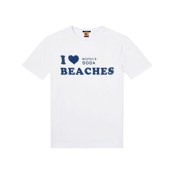 Scotch & Soda Sun Bleached T-Shirt - Ανδρικό Κοντομάνικο Λευκό