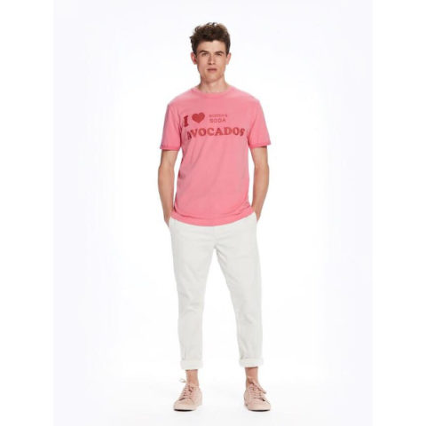 Scotch & Soda T-Shirt Antique Fuchsia-Ανδρική Μπλούζα