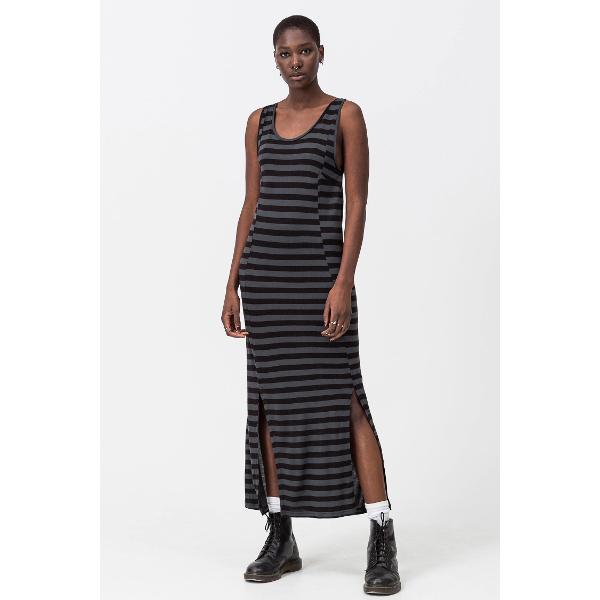 Γυναικείο Ριγέ Μακρύ Φόρεμα Cheap Monday Off Black