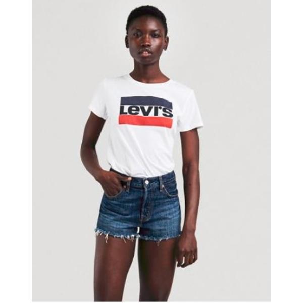 Levi's The Perfect Tee-Γυναικεία Κοντομάνικη Μπλούζα Λευκή