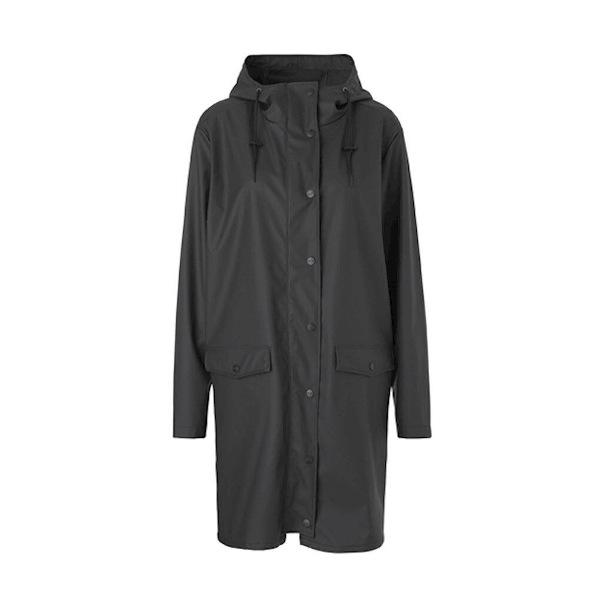 Γυναικείο Αδιάβροχο - Fabiola Print Raincoat -black