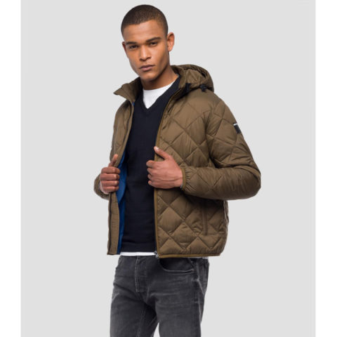 Replay Ανδρικό Μπουφάν-Down Jacket Diamond Quilted