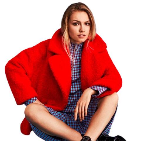 Sevina Coat mbyM-Γυναικεία Οικολογική Γούνα