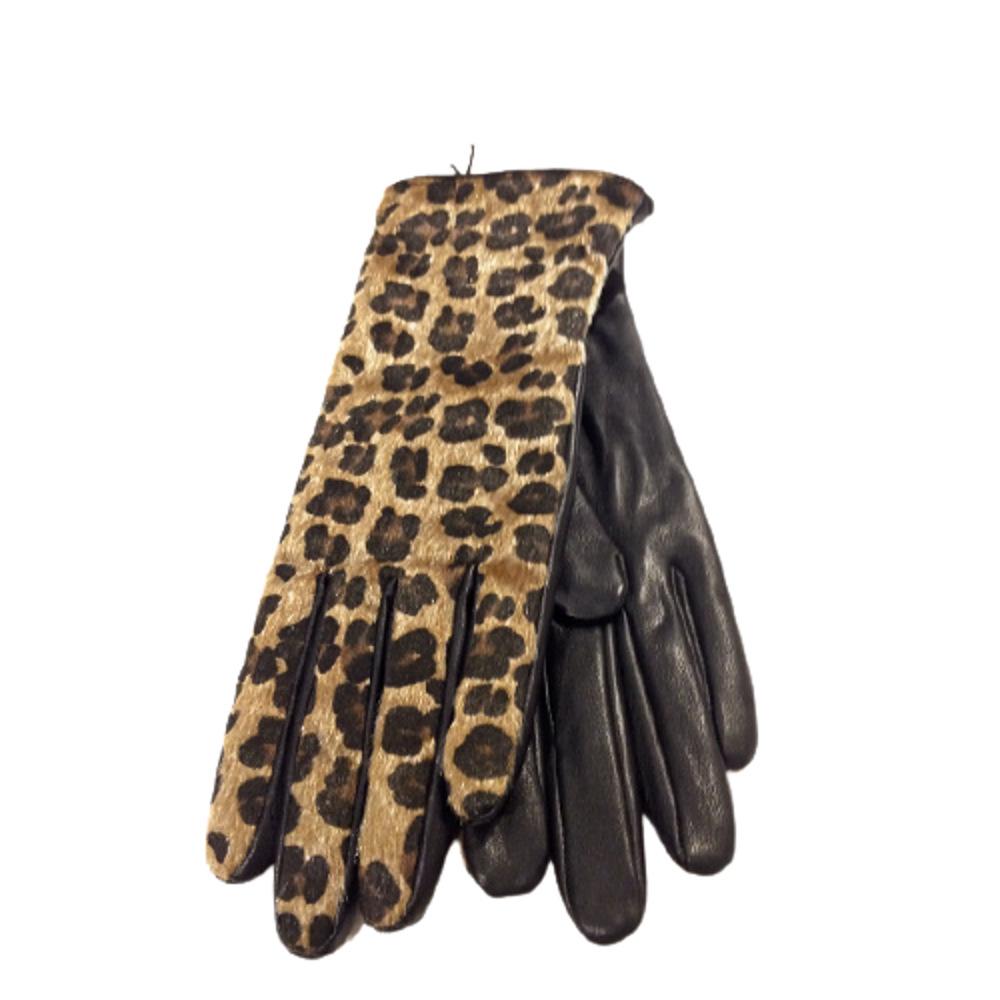 Γυναικεία Δερμάτινα Γάντια Animal Print