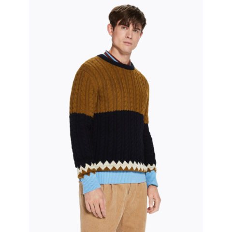 Mixed Structure Pullover - Ανδρικό Πλεκτό