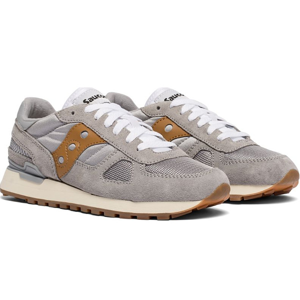 Saucony Women's Shadow Original Grey/Brown Sneakers