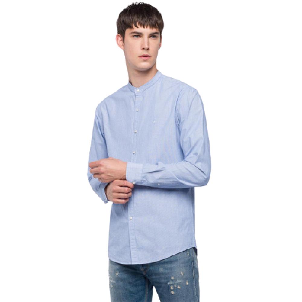 Replay Men's Mandarin Collar Shirt