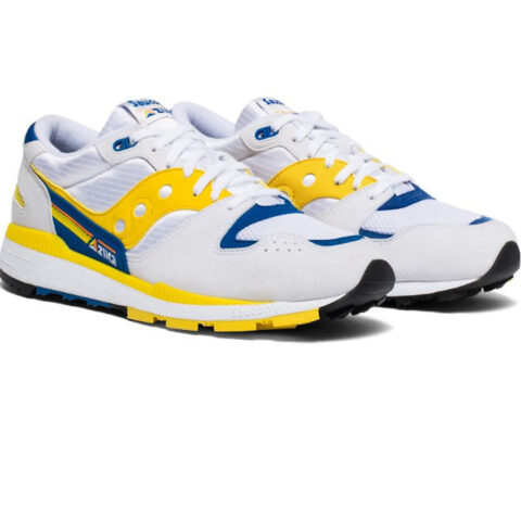 Saucony Men's Azura Footwear (S70437-1) White/Yellow