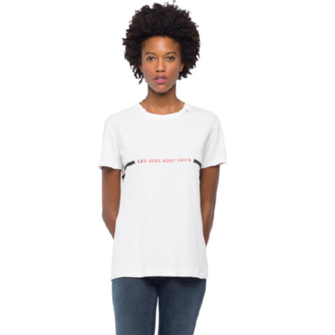 Replay Women's T-shirt Lettering Print