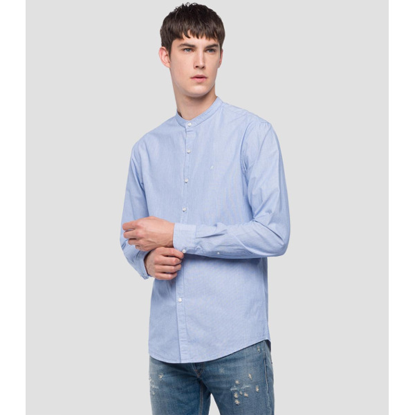 Replay Men's Mandarin Collar Shirt