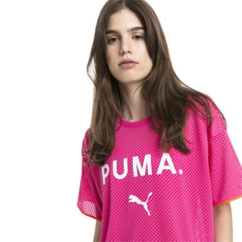 Puma Chase Mesh Women's Tee Fuchsia