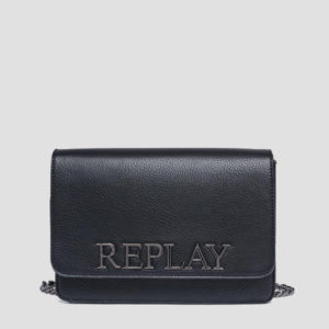 Replaly Shoulder Bag In Hammered Eco-Leather