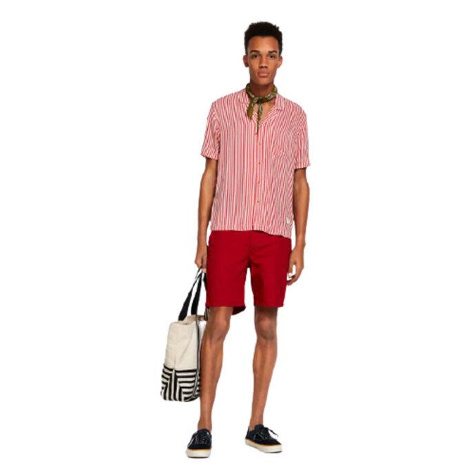 Scotch And Soda Striped Hawaii Shirt