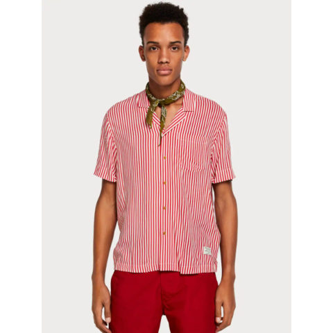 Scotch And Soda Striped Hawaii Shirt