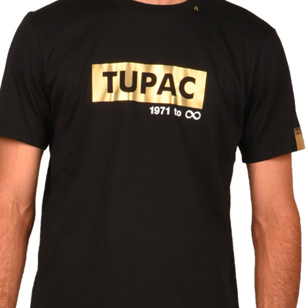 Replay Men's T-shirt Tribute Tupac 1971 Black