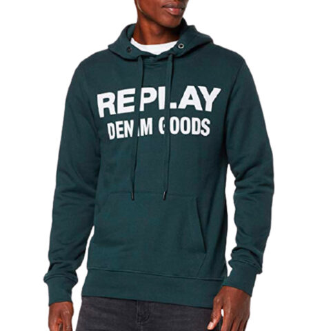 Replay Men's Hoodie Denim Goods