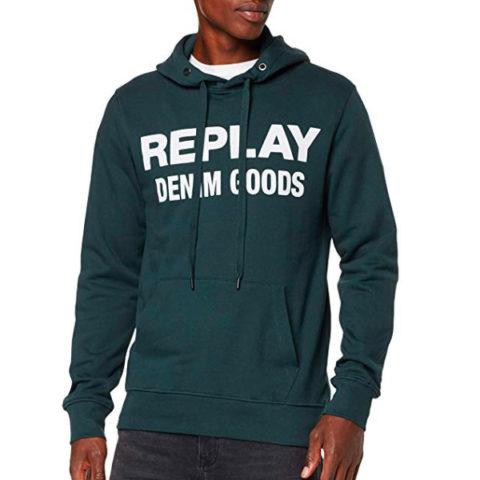 Replay Men's Hoodie Denim Goods