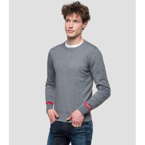 Replay Men's Crewneck Sweater With Writings