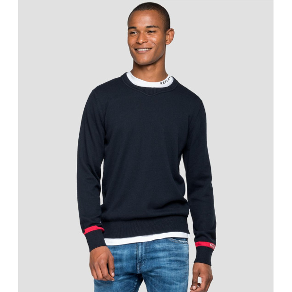 Replay Men's Crewneck Sweater With Writings