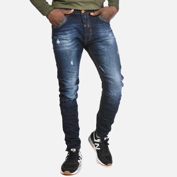 Brokers Jeans Ανδρικό Μπλε Με Ξεβάμματα