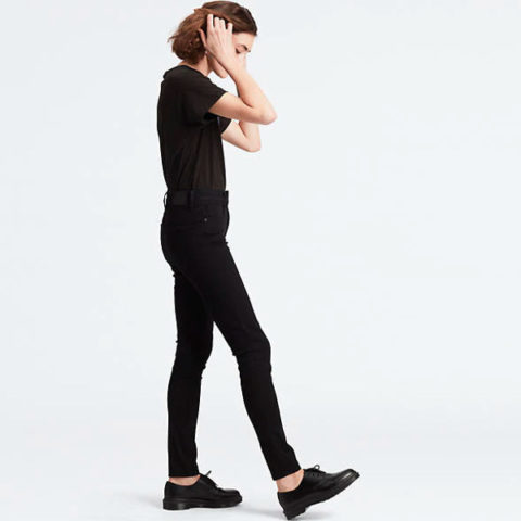 Levi's 721 High-Waisted Skinny Black Jeans