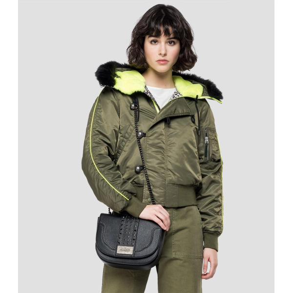 Replay Women's Bomber Jacket With Hood