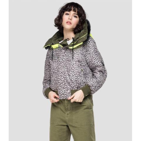 Replay Women's Bomber Jacket With Hood