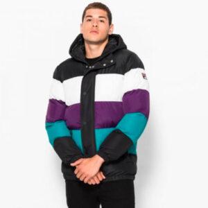 Fila Giovannie Vintage Colour Blocked Puffa/Jacket
