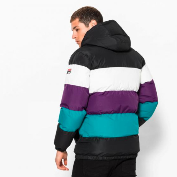 Fila Giovannie Vintage Colour Blocked Puffa/Jacket