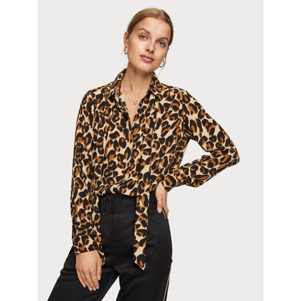 Scotch & Soda Tie Neck Blouse/Shirt