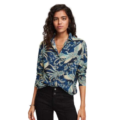 Scotch & Soda Crane Print Blouse/Shirt
