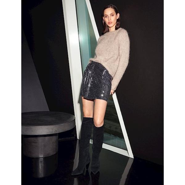 MbyM Kendall Mini Skirt - Μεταλική Φούστα
