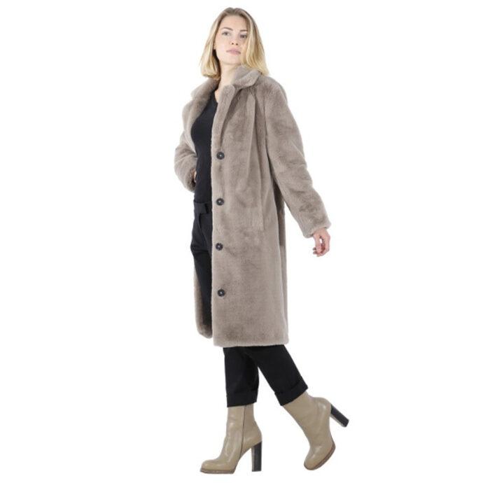 Oakwood Cyber Dark Beige Fake Fur