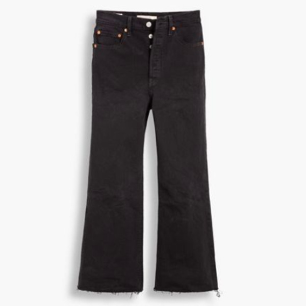 Levi's® Crop Flare Black Ribcage
