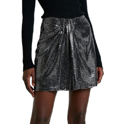 MbyM Kendall Mini Skirt - Μεταλλική Φούστα