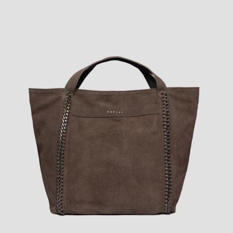 Replay Women's Shopper Bag In Suede