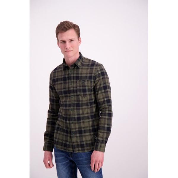 Shine Original Men's Shirt Checkered Army