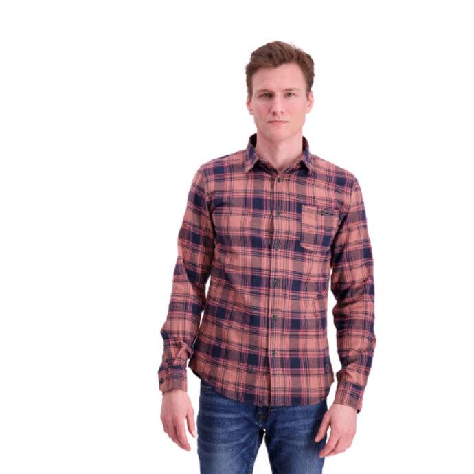Shine Original Men's Checkered Shirt Dusty/Pink